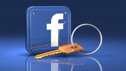 Facebook Logo with key