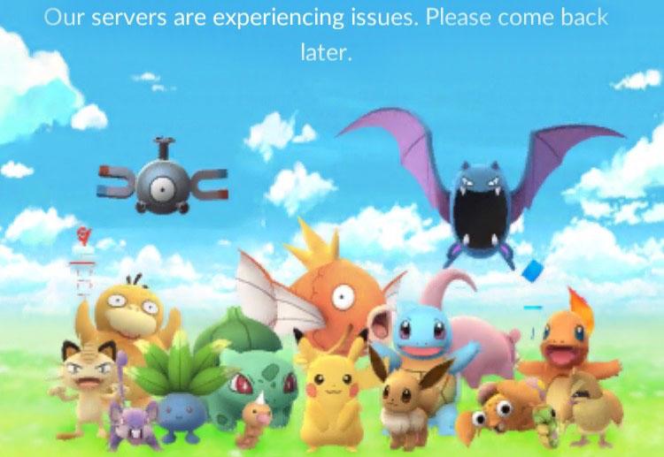 Image result for Pokemon Go Server down screen