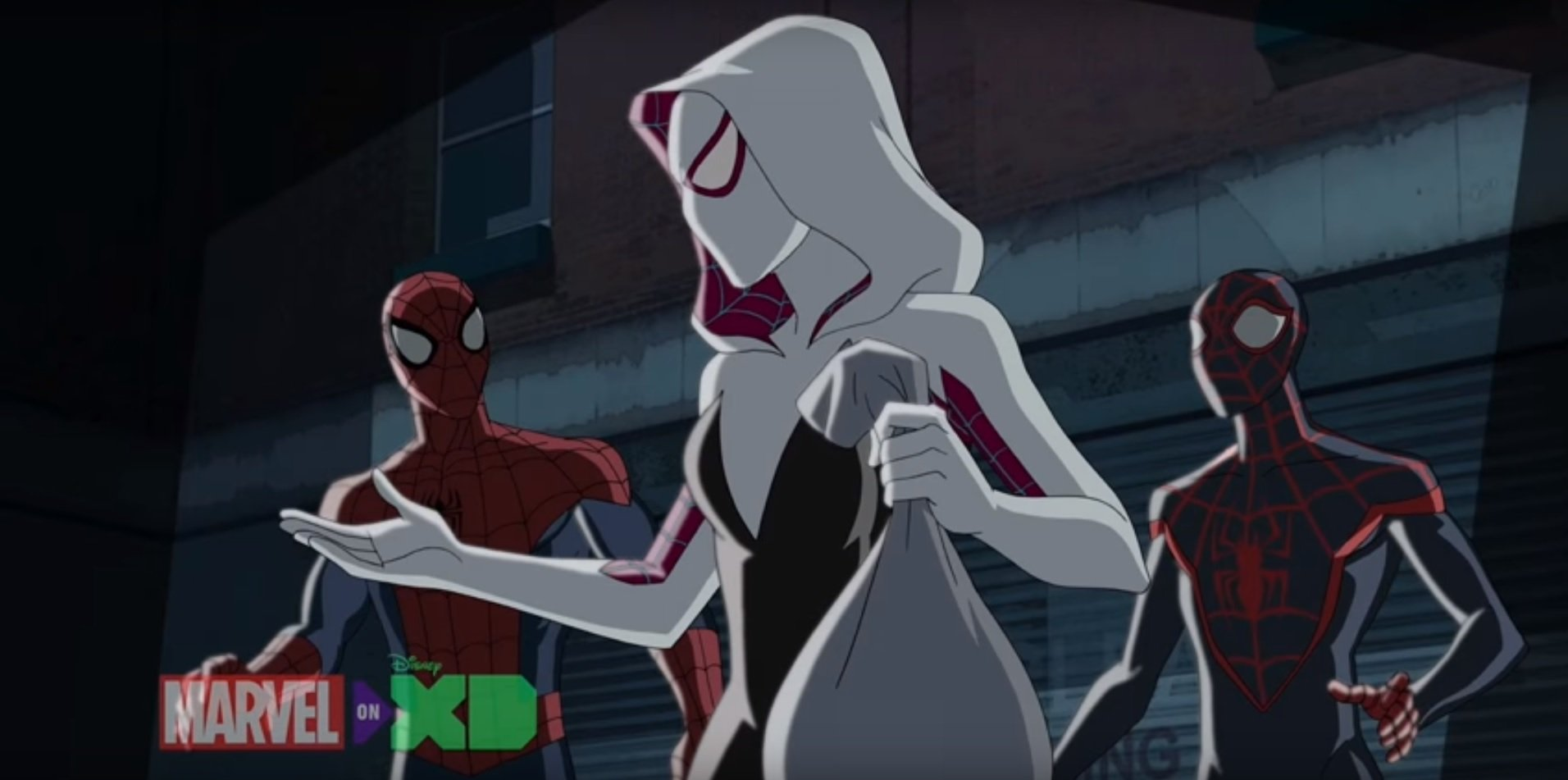 check out spider-gwen's first animated appearance on ultimate spider