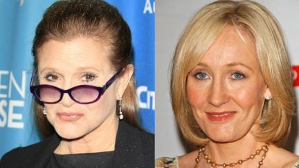 Two of Our Favorite Women, J.K. Rowling and Carrie Fisher, Expertly Trash Trump on Twitter
