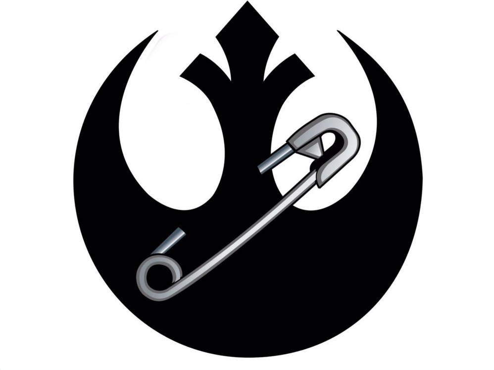 rogue one writers share star wars safety pin logo the mary sue