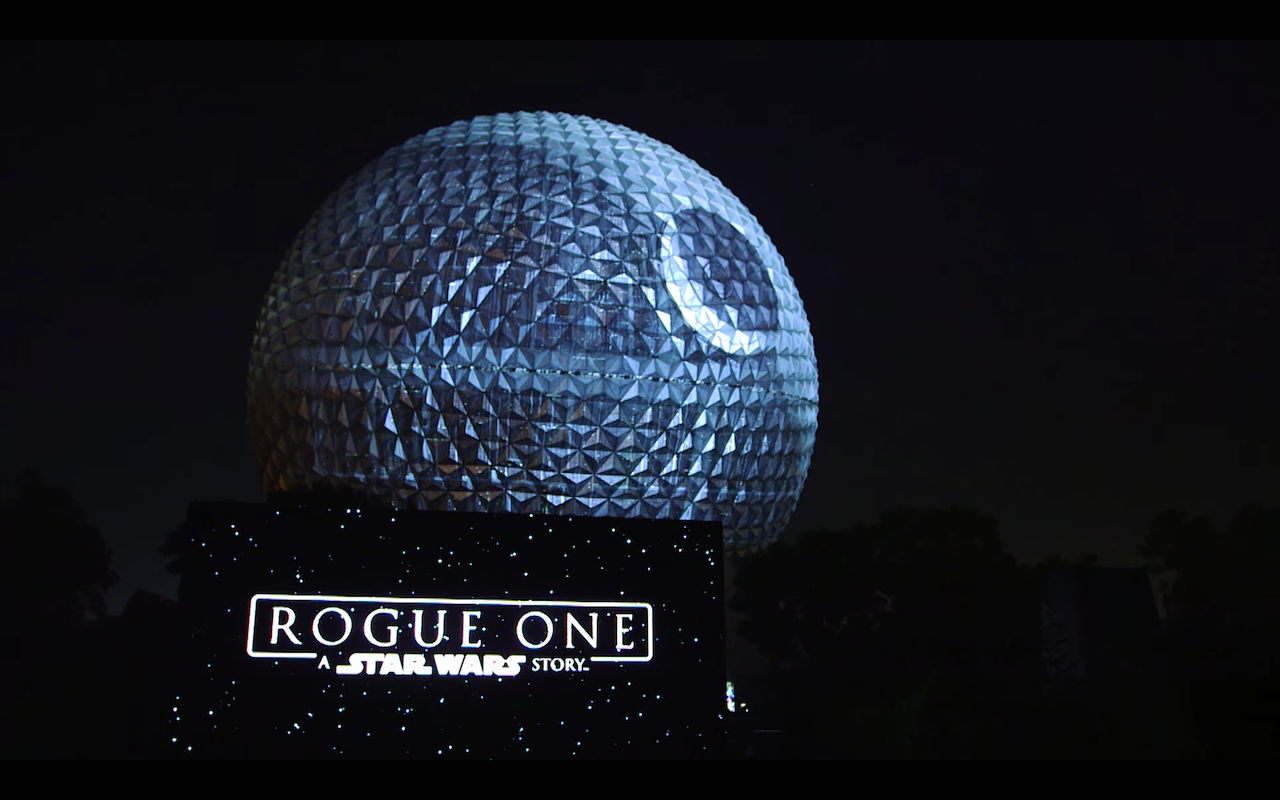 Epcot Unveils Death Star Overlay For Spaceship Earth The Mary Sue