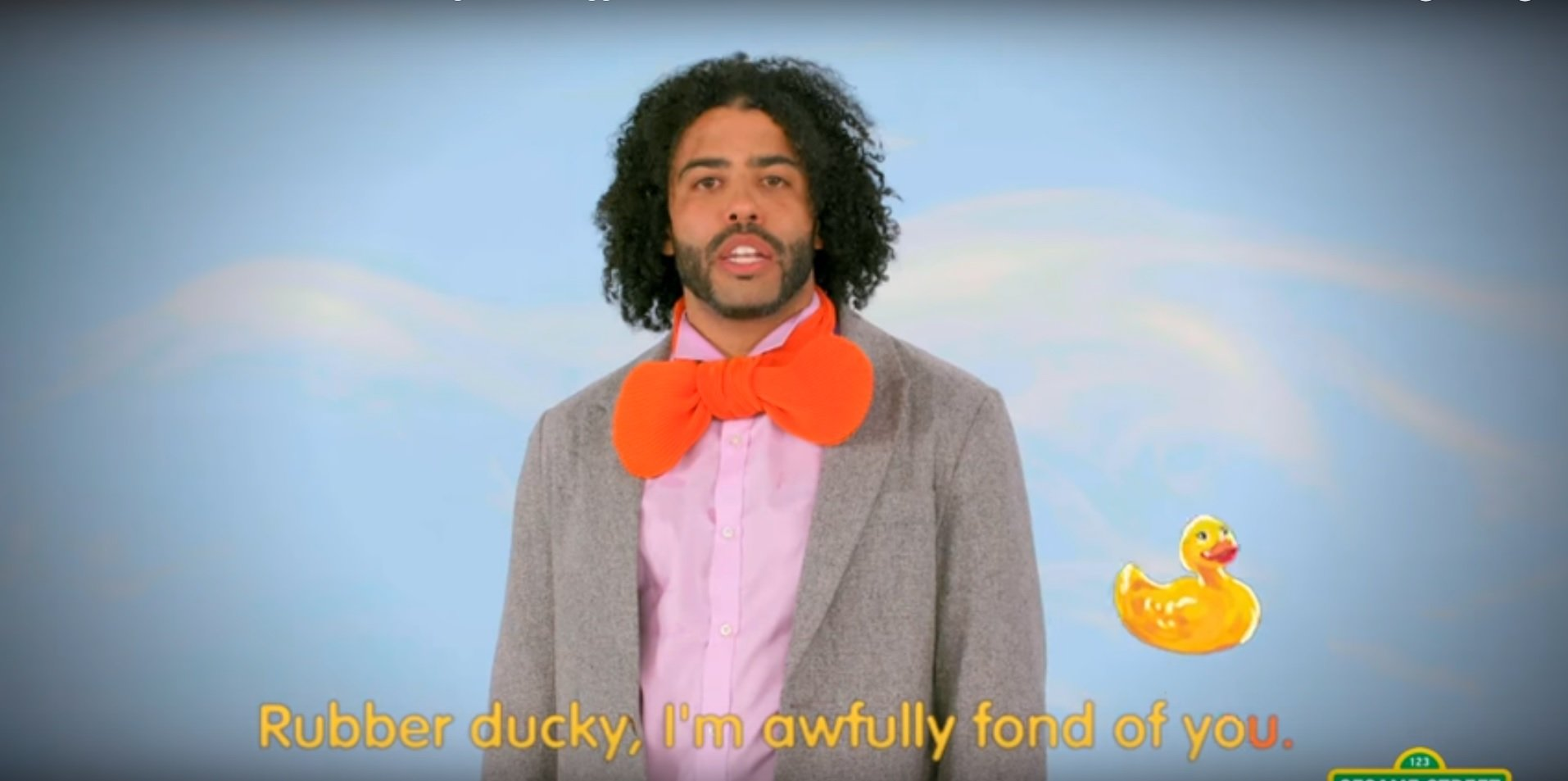 Daveed Diggs Shows Love For Rubber Ducky On Sesame Street