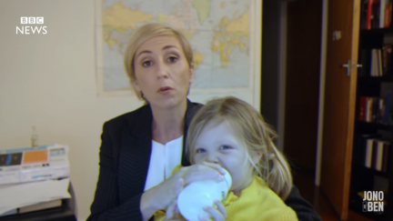 This Parody of the BBC Dad Interview Gets Sexism in Parenting Right–And Then So Wrong