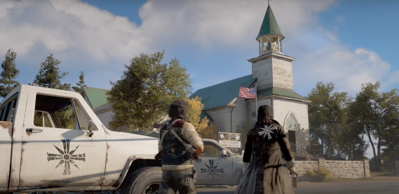 Far Cry 5 Trailer Violent Religious Cult In Montana The Mary Sue
