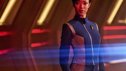 Sonequa martin-green stars as michael burnham in Star Trek: discovery.