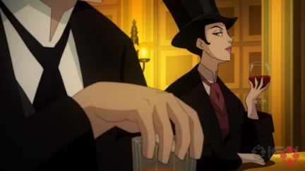 Screengrab of Selina Kyle/Catwoman from Gotham By Gaslight