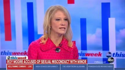 Screengrab of Kellyanne Conway on ABC News' This Week on November 12, 2017