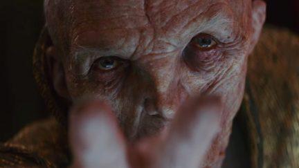 Snoke in Star Wars: The Last Jedi