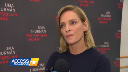 Screengrab of an Uma Thurman interview with Access Hollywood