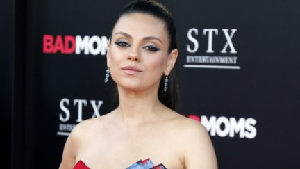 mila kunis whiskey jim beam protest mike pence planned parenthood (shutterstock)