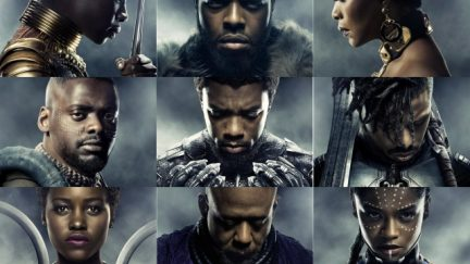 Black Panther Character Collage