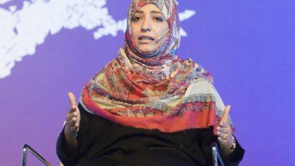 Tawakkol Karman speaking