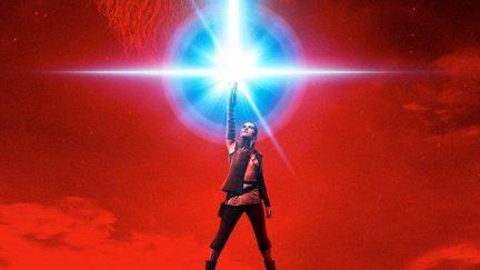 Rey on Star Wars: The Last Jedi poster