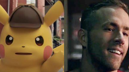 Ryan Reynolds and Detective Pikachu