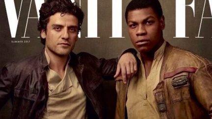 Finn and Poe on Vanity Fair cover