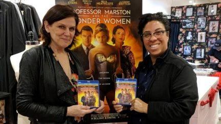 image: Teresa Jusino Donna Maloney and Angela Robinson at the Blu-ray release party for