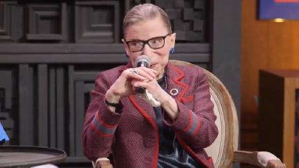 Screengrab of Ruth Bader Ginsburg at the Sundance Institute