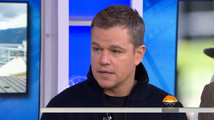 Screengrab of Matt Damon's January 2018 appearance on the Today Show