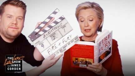 Hillary Clinton reads Fire and Fury