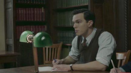 Nicholas Hoult as JRR Tolkien in Tolkien
