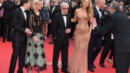 image: magicinfoto/Shutterstock CANNES, FRANCE - MAY 11, 2016: C. Stoll, J. Eisenberg, B. Lively, K. Stewart, W. Allen attend the 'Cafe Society' premiere and the Opening Night Gala. 69th annual Cannes Film Festival
