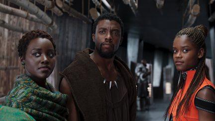 image: Marvel Black Panther Lupita Nyong'o Chadwick Boseman Letitia Wright Nakia T'Challa Shuri Marvel
