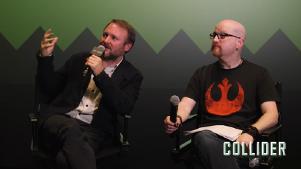Screengrab of Collider's interview with Rian Johnson
