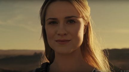 image: screencap/HBO Evan Rachel Wood as Dolores Abernathy on Westworld from the Season Two Super Bowl Ad