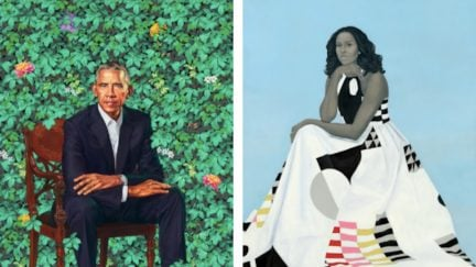 Official portraits of Barack and Michelle Obama