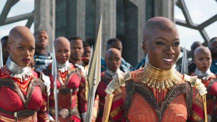 Okoye and the Dora Milaje in Marvel's Black Panther