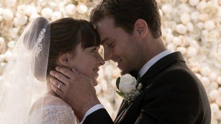 fifty shades freed Ana and Christian Grey wedding