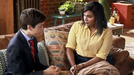 image: NBC J.J. Totah and Mindy Kaling in a scene from