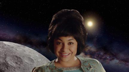 image: screencap/Comedy Central Raven-Symoné as Nichelle Nichols on