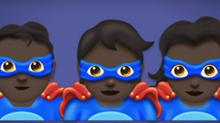 Superhero emoji example