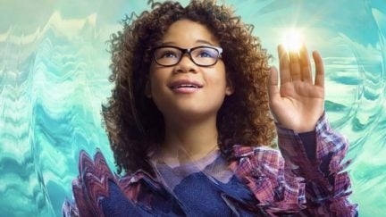 Storm Reid as Meg Murry in her character poster for