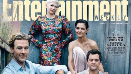 James Van Der Beek, Michelle Williams, Katie Holmes, and Joshua Jackson at Entertainment Weekly's