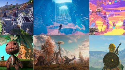 Screengrabs of the Game for Change video about the beauty of video games