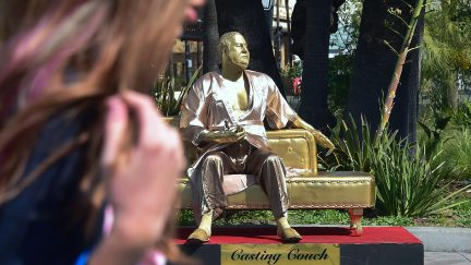 harvey weinstein statue oscars me too plastic jesus ginger