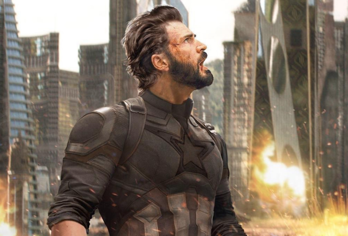 what happened to captain america's face in new 'infinity war' poster