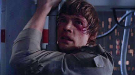 Mark Hamill as Luke Skywalker as Darth Vader reveals he's Luke's father in Star Wars: The Empire Strikes Back
