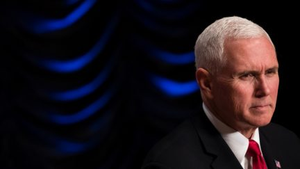 Mike Pence looks sad and lonely.