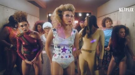 Betty Gilpin and the cast of Netflix's GLOW