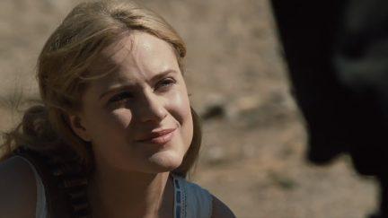 Evan Rachel Wood as Dolores on HBO's Westworld