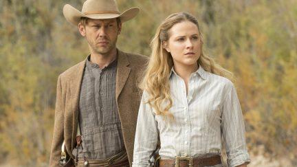 Westworld Season 1, Episode 8 Air Date: 11/20/16 Pictured: : Jimmi Simpson, Evan Rachel Wood