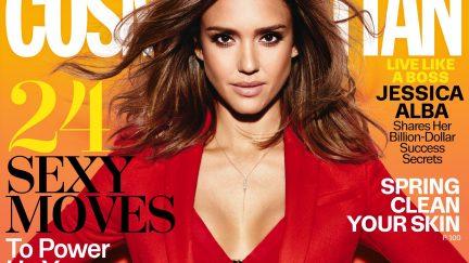 Jessica Alba on the cover of Cosmopolitan