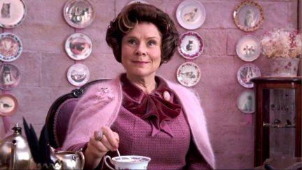 Dolores Umbridge played by Imelda Staunton in Harry Potter