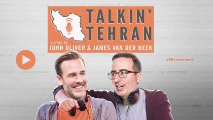 john oliver james van der beek podcast talking tehran last week tonight