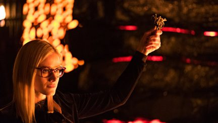 Olivia Taylor Dudley as Alice in The Magicians Season 3 finale