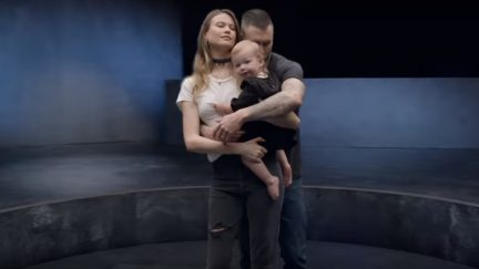 Adam Levine and his wife and baby in Maroon 5's 'Girls Like You'